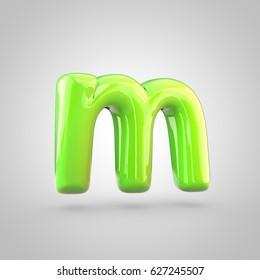 Glossy Marrs Green Color Alphabet Letter Stock Illustration