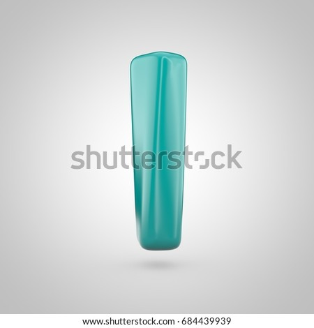 Glossy Marrs Green Color Alphabet Letter Stock Illustration
