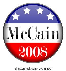 Glossy McCain Button