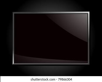 Glossy silver framed glass plaque on a black background