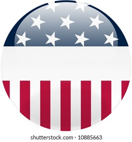 Glossy United States round button