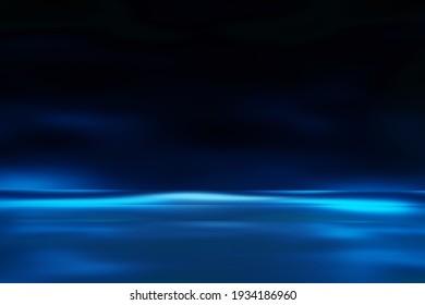 Glow blue light effect on Dark blue background.