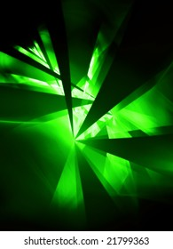 Glow Green Party - 3D fractal Illustration