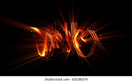 Glow swirl light effect. Circular lens flare. Abstract rotational lines. Power energy element.   Luminous shining neon lights cosmic abstract frame. Magic round frame. Swirl trail effect