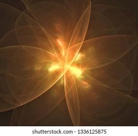 Glowing fractal pattern light