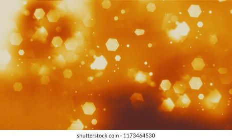 Glowing hexagons background