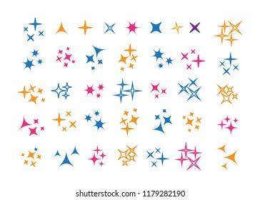 Glowing light effect star. Sparkle lights