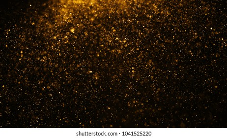 glowing particles, stars and sparkling flow, abstract background with sparkle glitter
