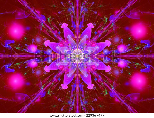Glowing Pink Purple Abstract High Resolution Stock