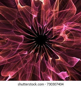 Glowing red radiating celebration abstract in flowing seasonal warm fire colours