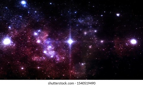 Glowing Stars in Deep Outer Space with Flowing Comet Dust Specks - Abstract Background Texture
