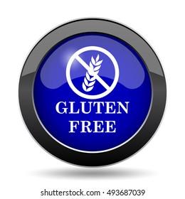 Gluten free icon. Internet button on white background.