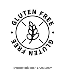 Gluten free simple icon, modern design element isolated on white