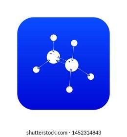 Glycine icon blue isolated on white background