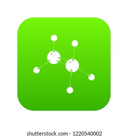 Glycine icon green isolated on white background