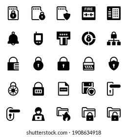 Glyph icons for crime and security.