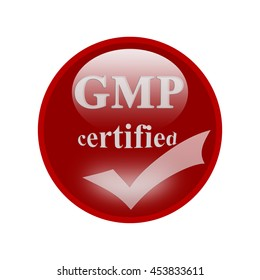GMP certified icon or symbol image concept design for business and use in company system.