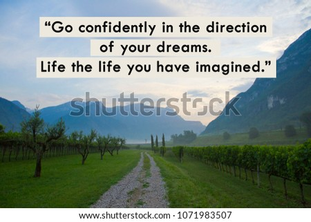 Go Confidently Direction Your Dreams Live Stock Illustration