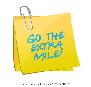 go the extra mile post illustration design over a white background