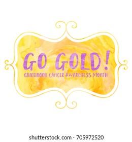 Go Gold Fancy Plaque Typography Design
