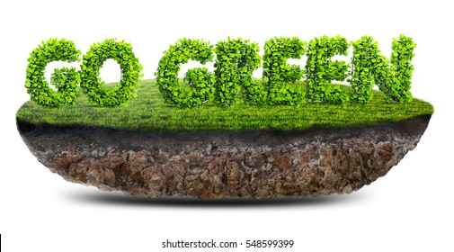 go green concept 3D illustration