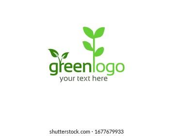 Go Green Logo on white background. Green Logo.