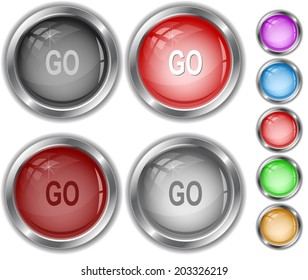 Go. Raster internet buttons.