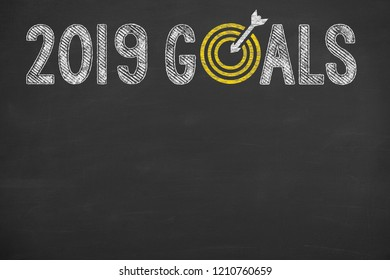 Goals 2019 on Chalkboard
