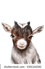 Goat print, Baby animal prints, Nursery wall decor, Unique baby gift, The Crown Prints, Nursery prints, Baby room wall decor, Baby goat