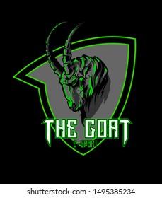 a goat-shaped logo for your esport team
