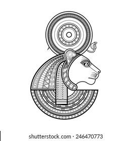 God of ancient Egypt. Sekhmet