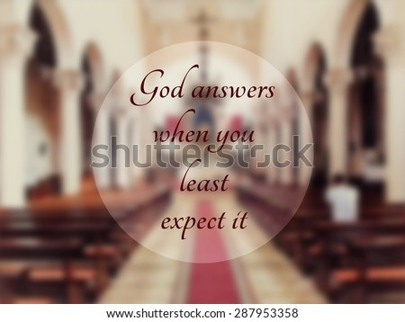 Royalty Free Stock Illustration Of God Answers When You Least Expect