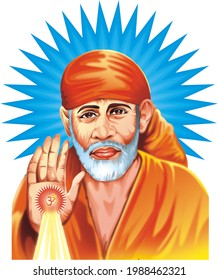 god shirdi saibaba poster, ecard, greeting card,