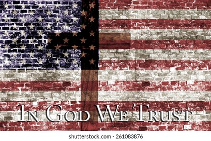 In God We Trust, Cross & Flag