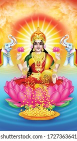 God of the wealth Lakshmi