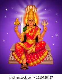 Goddess is basically a fierce village deity associated with Goddess Parvati and is said to be propitiated with blood. She also serves as a rural guardian deity, revered in the villages of South India.