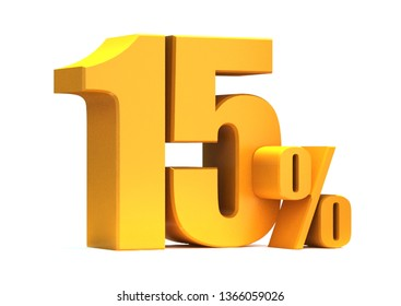 Gold 15 Percent off 3d Sign on White Background, Special Offer 15% Discount Tag, Sale Up to 15 Percent Off,big offer, Sale, Special Offer Label, Sticker, Tag, Banner, Advertising, offer Icon