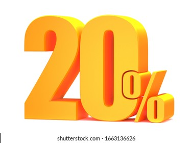 Gold 20 Percent off 3d Sign on White Background, Special Offer 20% Discount Tag, Sale Up to 20 Percent Off,big offer, Sale, Special Offer Label, Sticker, Tag, Banner, Advertising, offer Icon