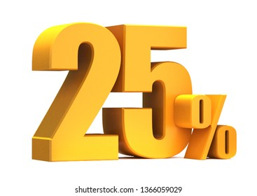 Gold 25 Percent off 3d Sign on White Background, Special Offer 25% Discount Tag, Sale Up to 25 Percent Off,big offer, Sale, Special Offer Label, Sticker, Tag, Banner, Advertising, offer Icon