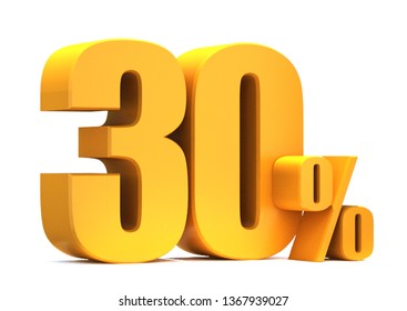 Gold 30 Percent off 3d Sign on White Background, Special Offer 30% Discount Tag, Sale Up to 30 Percent Off,big offer, Sale, Special Offer Label, Sticker, Tag, Banner, Advertising, offer Icon