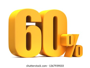 Gold 60 Percent off 3d Sign on White Background, Special Offer 60% Discount Tag, Sale Up to 60 Percent Off,big offer, Sale, Special Offer Label, Sticker, Tag, Banner, Advertising, offer Icon