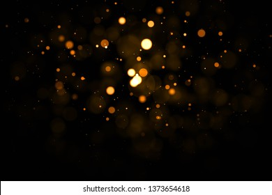Gold abstract bokeh background.