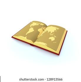 Gold atlas / Atlas / Atlas travel / World gold atlas
