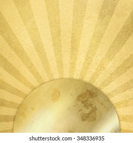 Gold background with rays - abstract sunburst