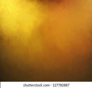 gold background with rich yellow and brown or sepia tone colors with vintage grunge texture and black vignette frame border of shiny hammered metal illustration