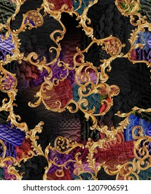 gold baroque and knitwear knitting pattern.
