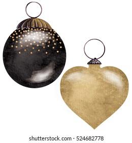 gold and black christmas ornaments - Black Christmas Ornaments