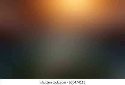 Gold and black gradient - abstract texture. Shining blurred background. Stylish luxury texture. Background empty dark matte. Metallic luster.