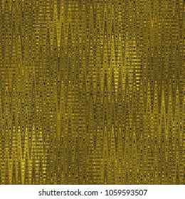 Gold and black seamless texture with pattern, 3d illustration