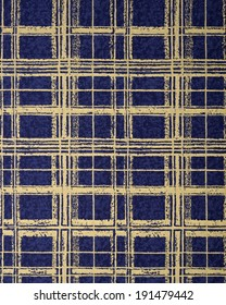 Gold and blue check pattern